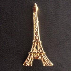 Eiffel tower brooch