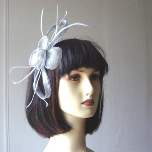 "Wedding sinamay headband ""pretty"" - 4 COLOURS - Black out of stock"