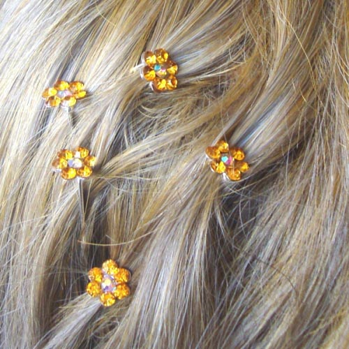 Hair jewels on hairpins