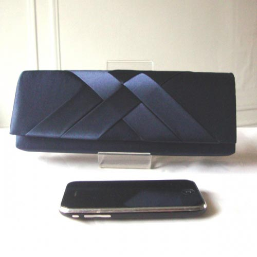Our darling wedding, evening clutch - navy satin