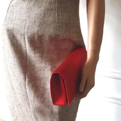 Classical evening or wedding red bag
