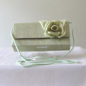 Sinamay green wedding, evening clutch