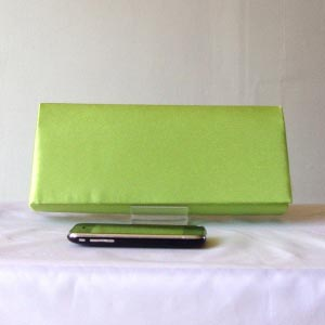 Apple green evening/wedding clutch