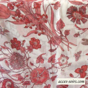 Cotton stole with country side patterns - 2 colours