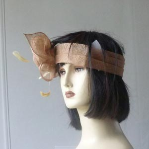 Headband sinamay for weddings or fetes
