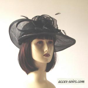 Asymetric sinamay wedding hat : 10 colours