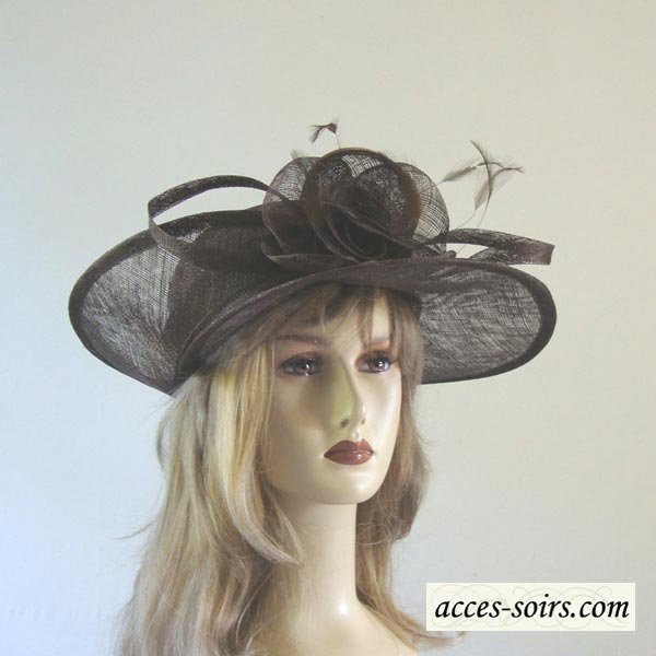Asymetric sinamay wedding hat : 15 colours