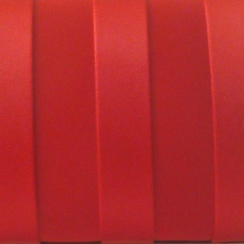 Red satin evening clutch with rings