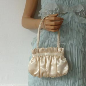 Mini evening bag - gold, silver or ivory satin