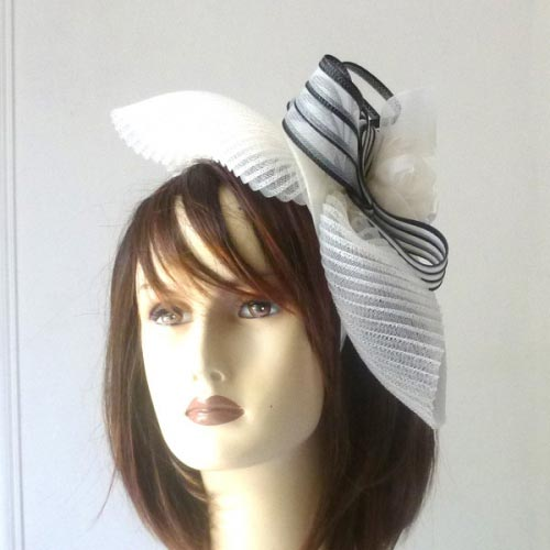 Festive headband off-white and black