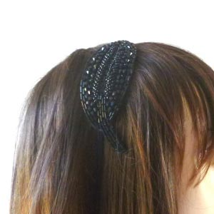 Wedding, evening headband leaf shaped