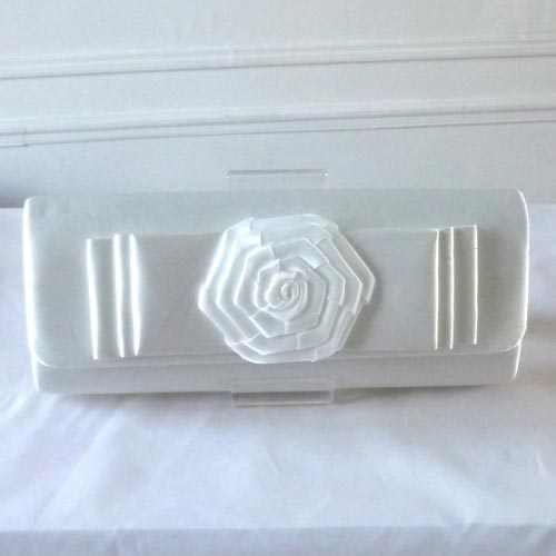 Wedding, evening bag with flat flower
