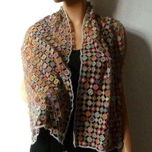Hand-crocheted scarf Sophie Digard