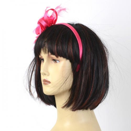 Satin and polyester silk headband