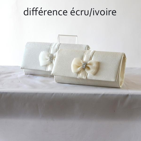 Mini evening clutch with bowtie and rhinestone - 5 colours - Silver out of stock