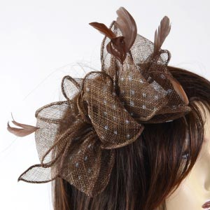 Sinamay wedding hair comb
