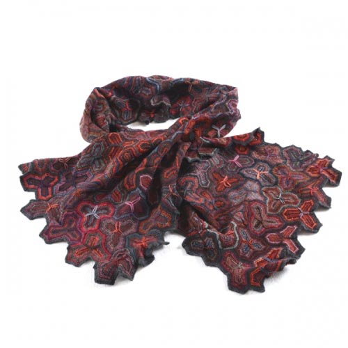 Sophie Digard big scarf - pattern puzzle