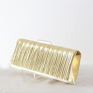 Lovely pleited satin evening bag