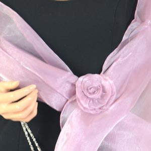 Matching wedding hat and evening bag - lilac/light purple