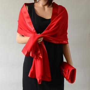 Red evening stole