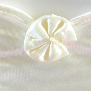 Ivory or white satin gloves for girls or teens