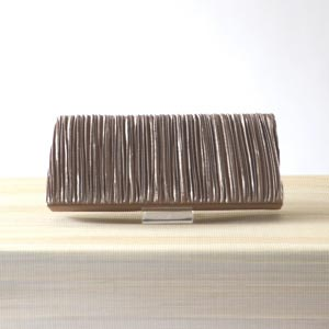 Taupe/brown evening bag