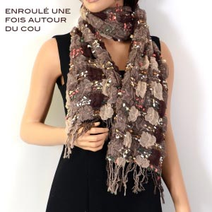 "Scarf ""my preference"", light brown"