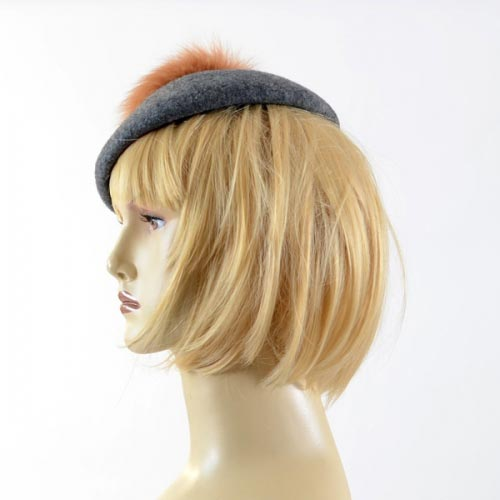 French beret with pompom, style sailor's hat