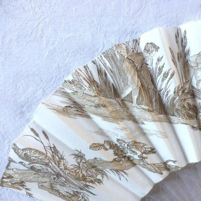 Collector fan, French designer Olivia Oberlin, signed, hand made
