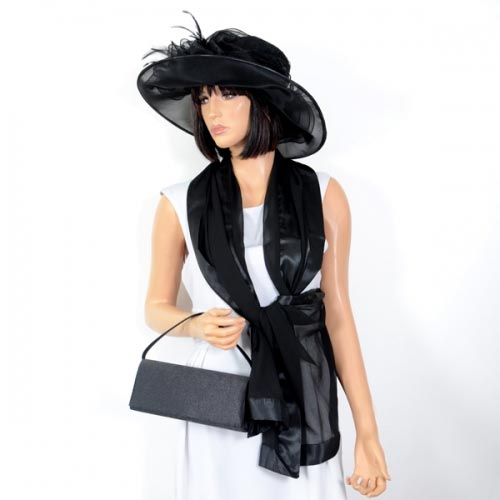 Black polyester wedding hat