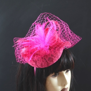 Small hat on headband - vintage style