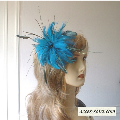 Feathers on hair pin and brooch - 3 colorus