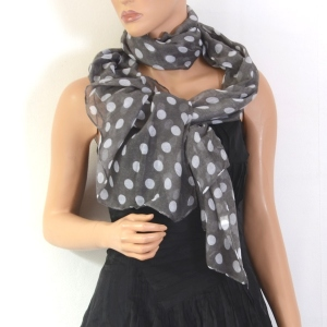 Big spotted scarf - blue background out of stock!