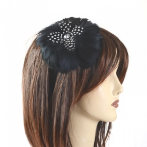 Wedding headband with feathers : 3 COLOURS