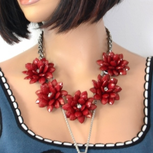 Necklace - Red Lotus