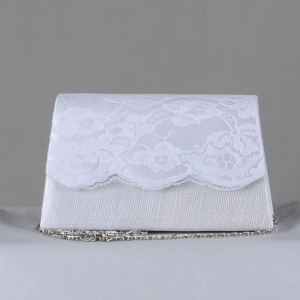 Evening bag - sinamay and laces