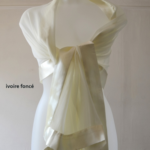 30 colours - Wedding stole/shawl in silk and satin