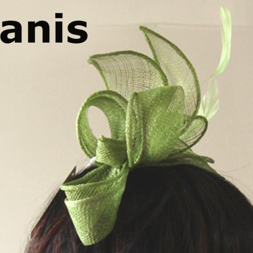 Headband sinamay and satin for weddings or evenings - 13 colours