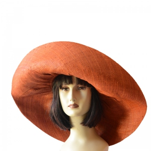 Very large brimmed raffia hat : 8 colours