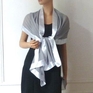 Matching wedding, evening stole with bag