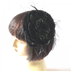 Lovely flower with brooch and hairpin. Black only! Ivory out of stock