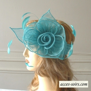 Turquoise wedding headband