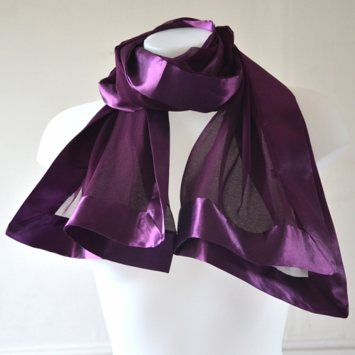 Silk mousseline and satin wedding stole
