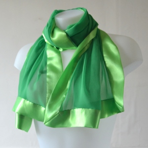 Prairie green silk foulard for weddings or everyday life