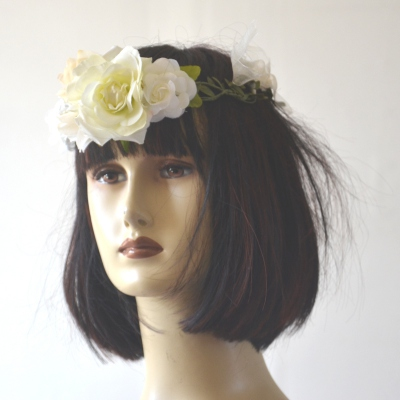 Flowers crown for wedding, fêtes, evenings, hand made