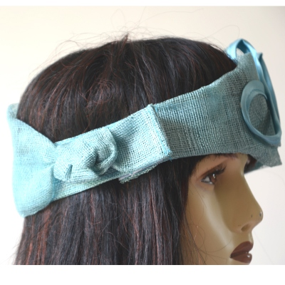 Sinamay headband for weddings or evenings