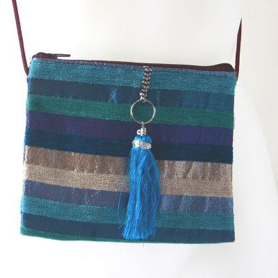 Lovely little evening bag with joyful and colourful stripes - main picture out of stock