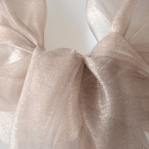 Wedding silk organza stole  light pinky brown and middle brown