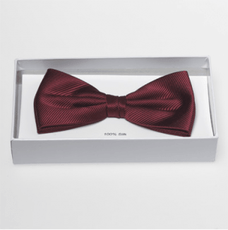 Pre-knotted one colour bow tie - 20 colours - 100 % silk