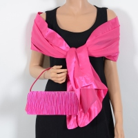 Fuchsia evening bag